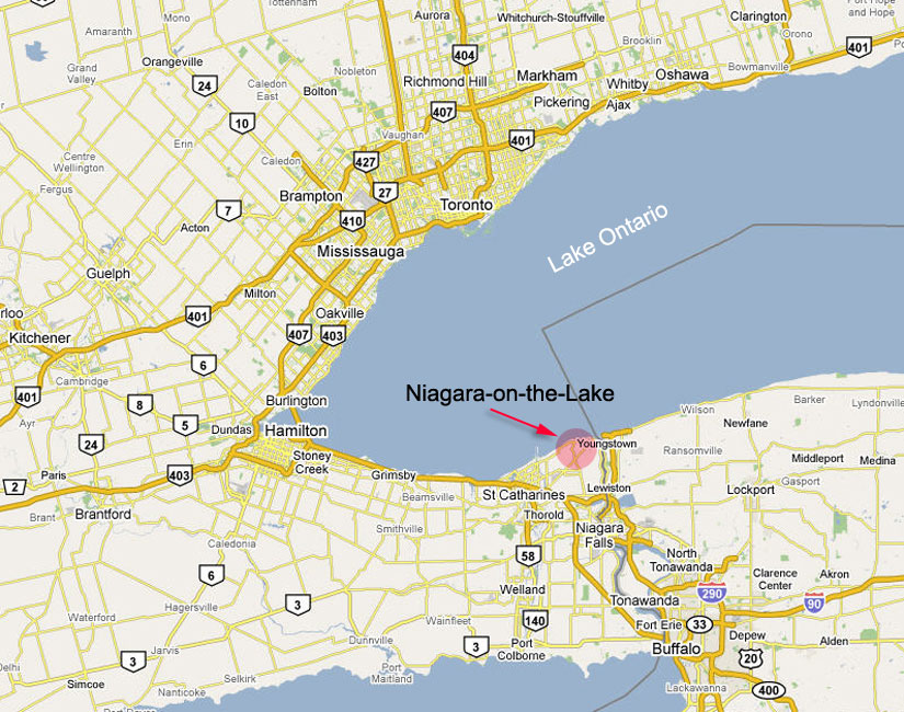 Niagara On The Lake Map Location/Map   Niagara on the Lake Cottages